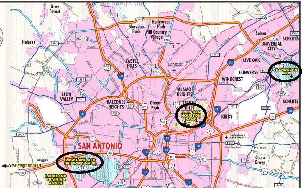 Lackland Afb/security Hill - Lackland Texas Map