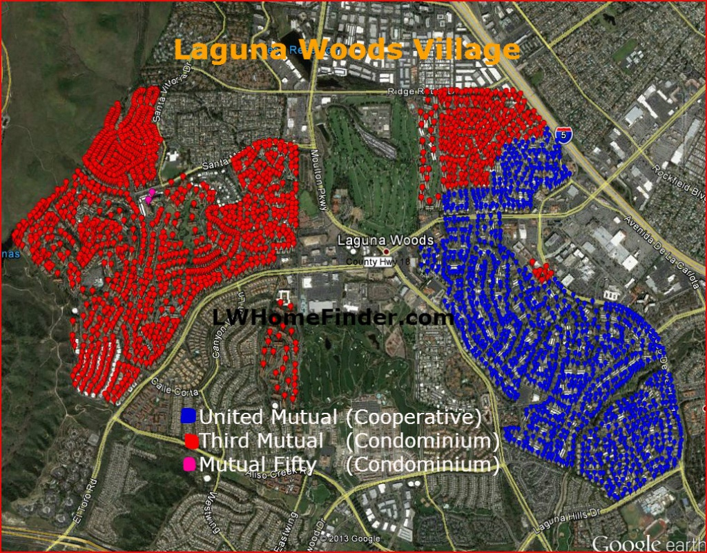 Laguna Woods Ownership - Mylagunawoods - Laguna Woods California Map