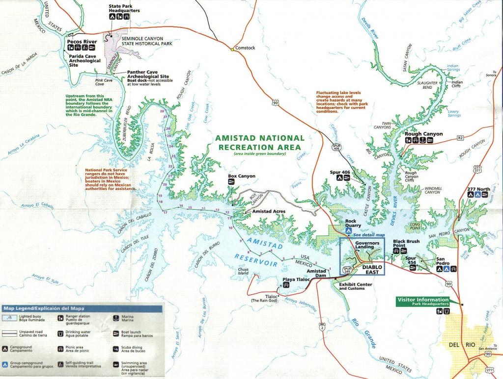 Lake Amistad Fishing Guide-Amistad Bass Fishing Guide-Lake Amistad Tx - Texas Fishing Maps