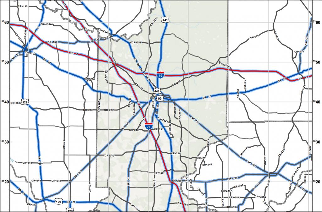Lake City, Fl Evacuation Routes And Shelter Locations | Florida Land - Map Of Lake City Florida And Surrounding Area