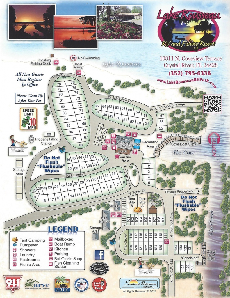 Lake Rousseau Rv Park - Florida Rv Campgrounds Map