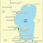 Lake Tahoe Campground Map   California   California Camping Sites Map