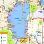 Lake Tahoe Tourist Attractions Map   Map Of Lake Tahoe Area California