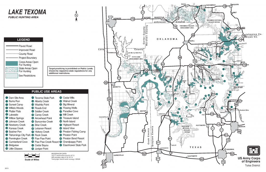 Lake Texoma: Public Hunting Area - Maps - Usace Digital Library - Texas Public Hunting Map