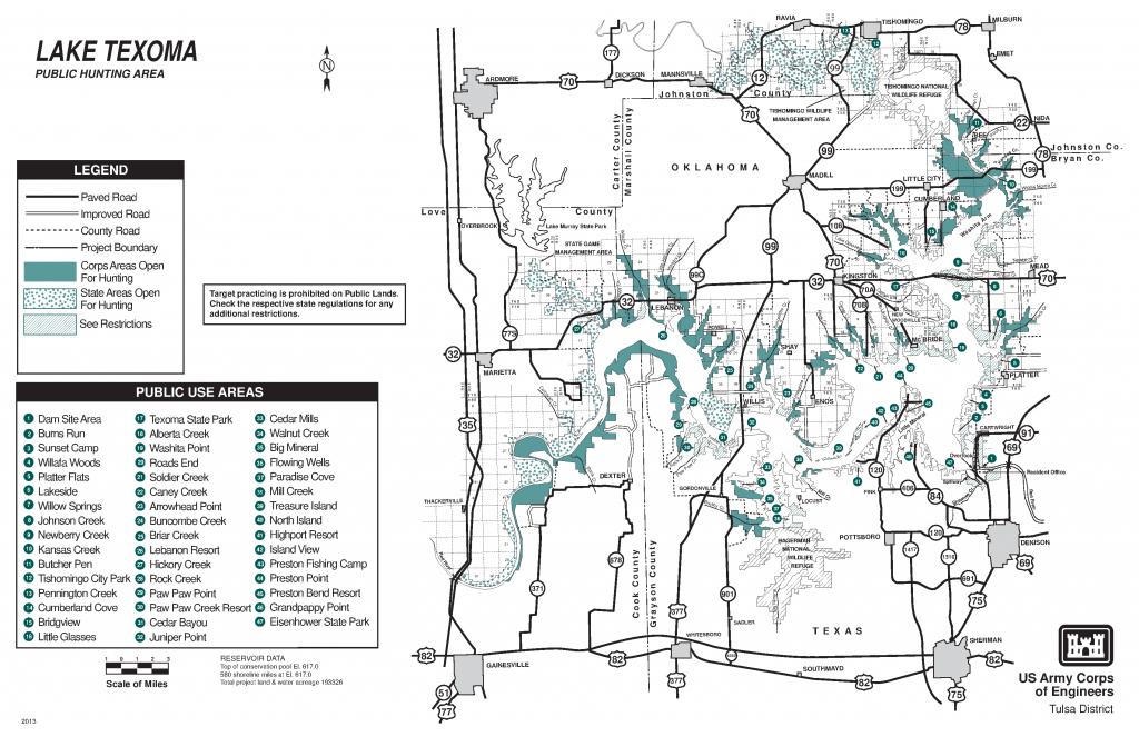 Lake Texoma: Public Hunting Area - Maps - Usace Digital Library - Texas Type 2 Hunting Land Maps