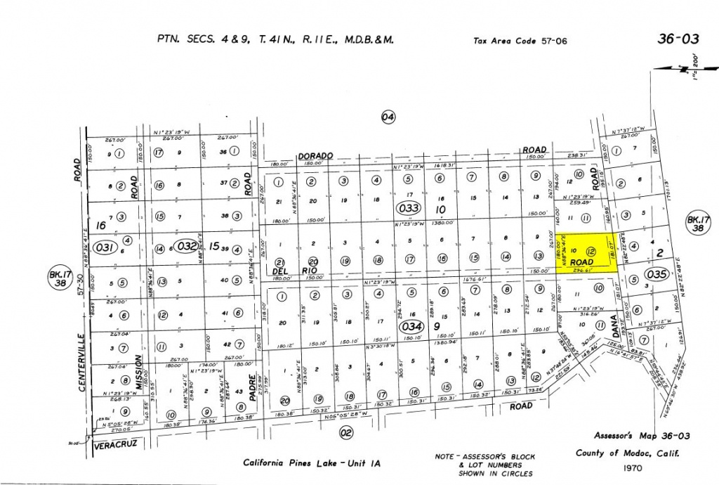 Land Rush Now | Land For Sale In California Pines – Dana Rd. Lake - California Pines Parcel Map