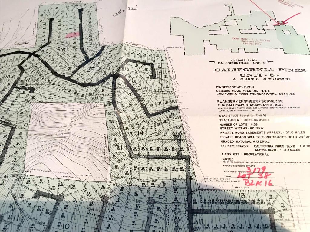 Land Rush Now | Plat Map - California Pines Parcel Map