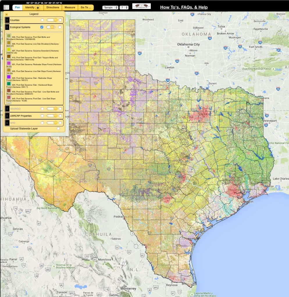 Landscape Ecology Program - Land - Tpwd - Texas Land Map