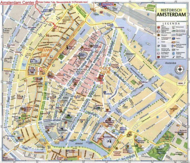 Amsterdam Street Map Printable