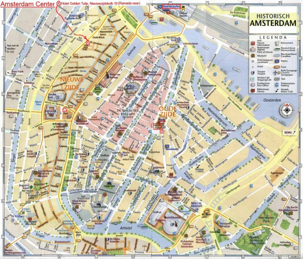 Large Amsterdam Maps For Free Download And Print | High-Resolution - Amsterdam Street Map Printable