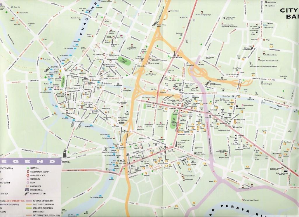 Large Bangkok Maps For Free Download And Print | High-Resolution And - Bangkok Tourist Map Printable