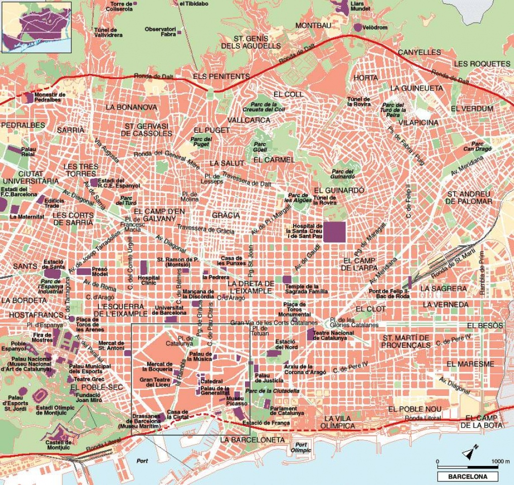 Large Barcelona Maps For Free Download And Print | High-Resolution - Printable Map Of Barcelona