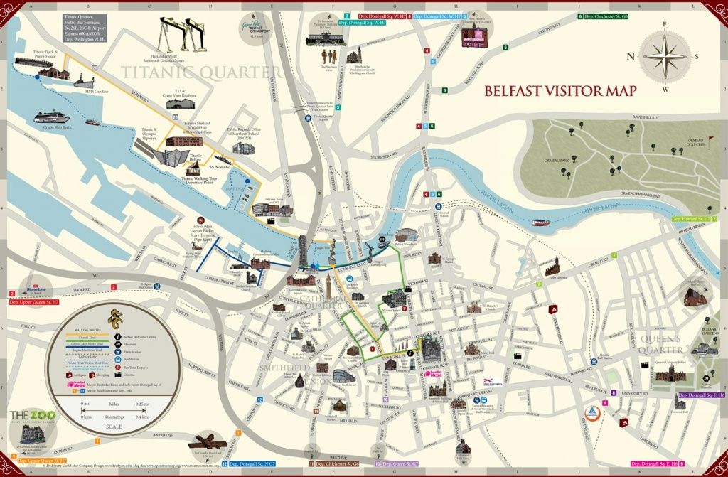 Large Belfast Maps For Free Download And Print   High-Resolution And - Belfast City Centre Map Printable