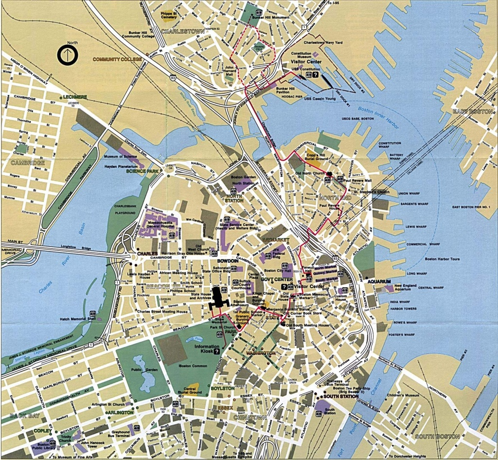 Large Boston Maps For Free Download And Print | High-Resolution And - Boston Tourist Map Printable