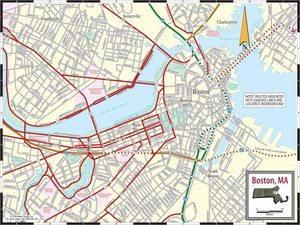 Large Boston Maps For Free Download And Print | High-Resolution And - Printable Map Of Cambridge Ma