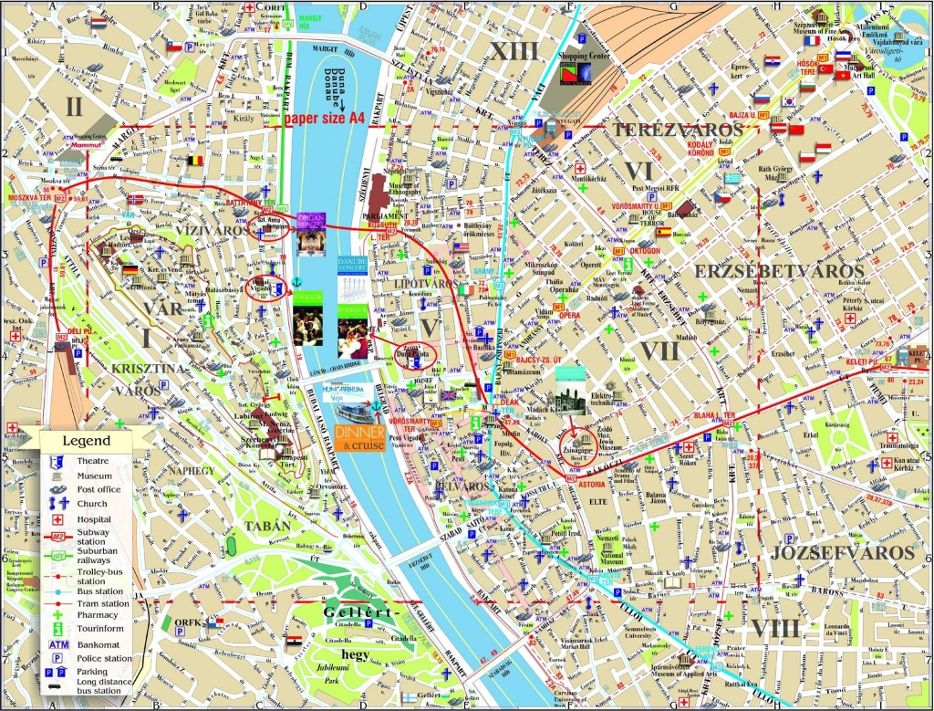 Large Budapest Maps For Free Download And Print   High-Resolution - Budapest Tourist Map Printable