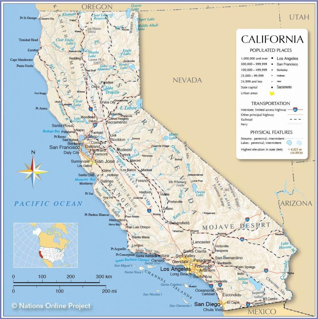 Large California Maps For Free Download And Print | High-Resolution - Map Of Northern California