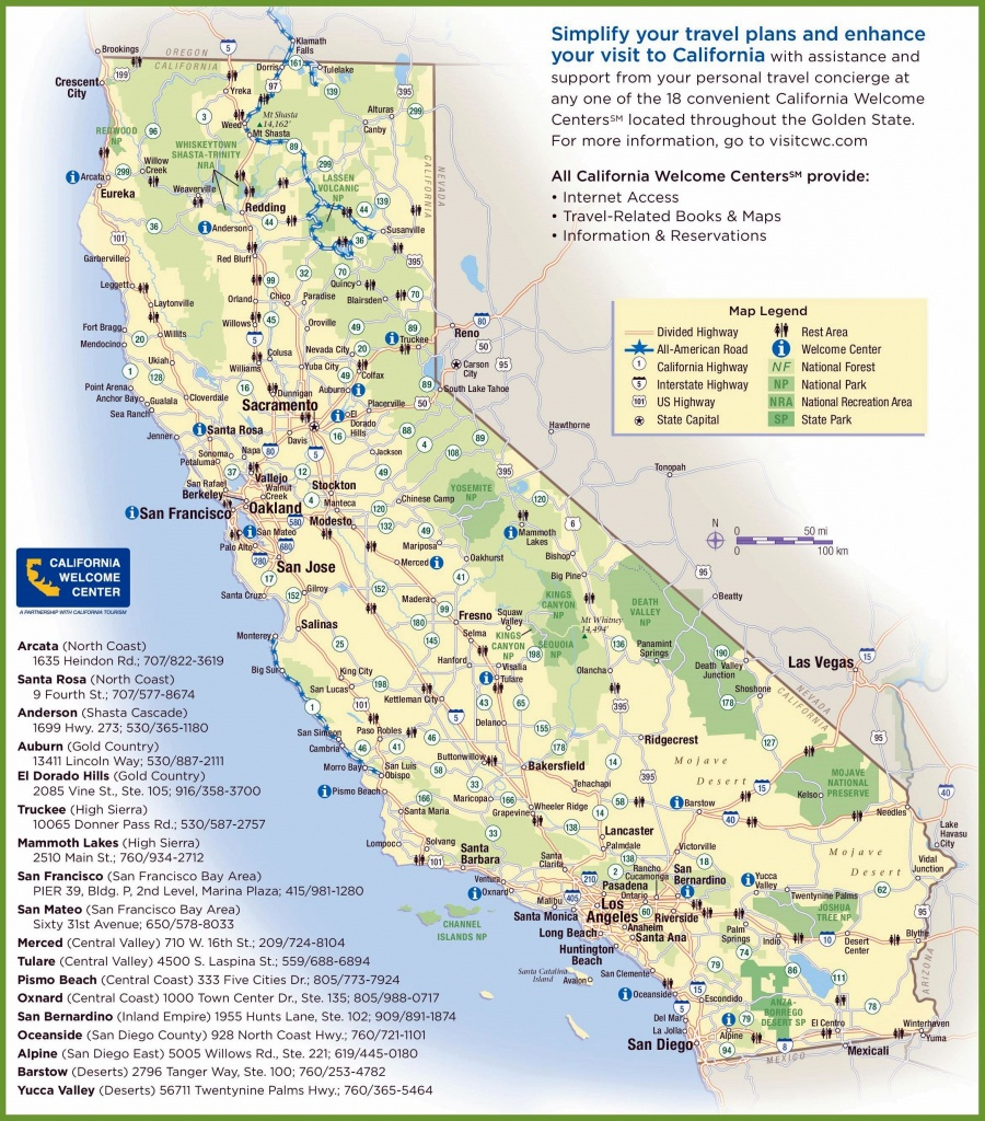 Large California Maps For Free Download And Print | High-Resolution - Southern California State Parks Map
