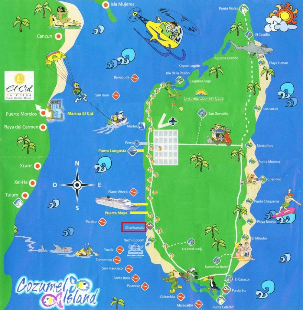 Large Cozumel Maps For Free Download And Print | High-Resolution And - Printable Street Map Of Cozumel