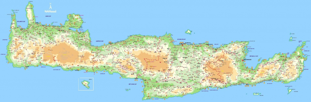 Large Crete Maps For Free Download And Print | High-Resolution And - Printable Map Of Crete