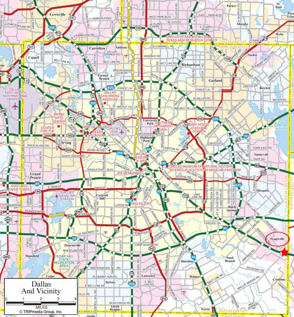 Large Dallas Maps For Free Download And Print | High-Resolution And - Map Of Downtown Dallas Texas