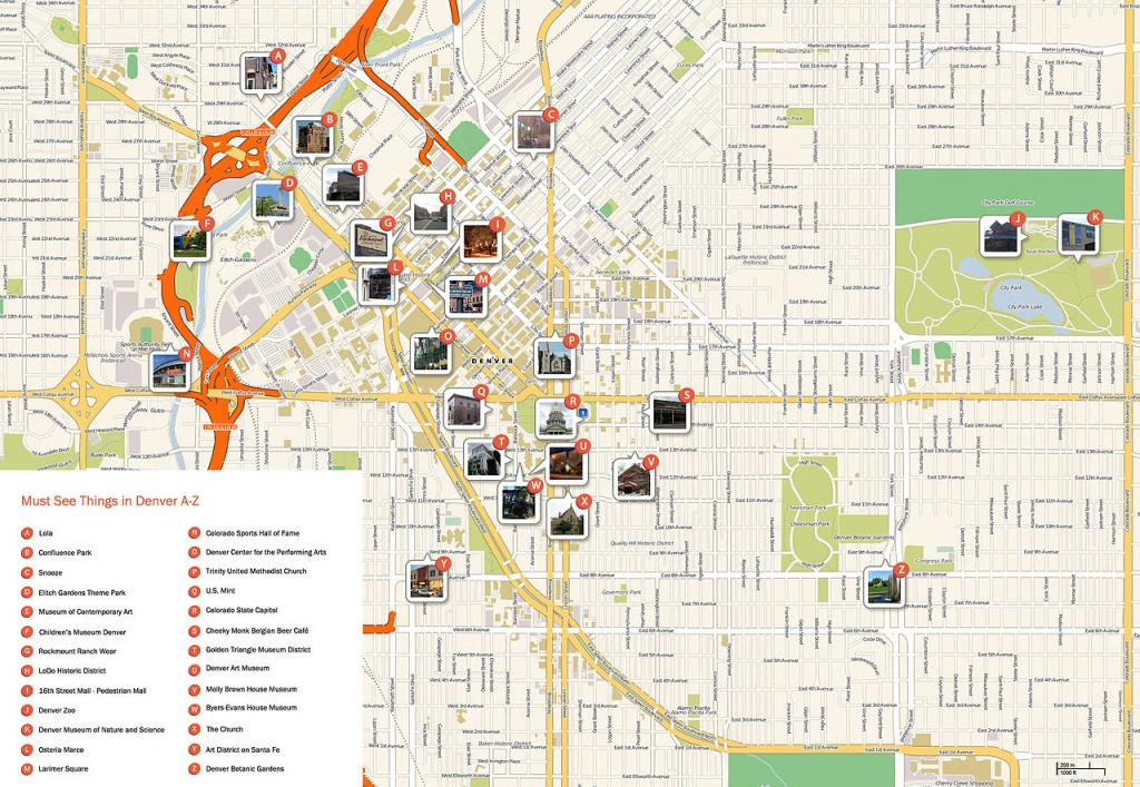 Large Denver Maps For Free Download And Print | High-Resolution And - Printable Map Of Denver