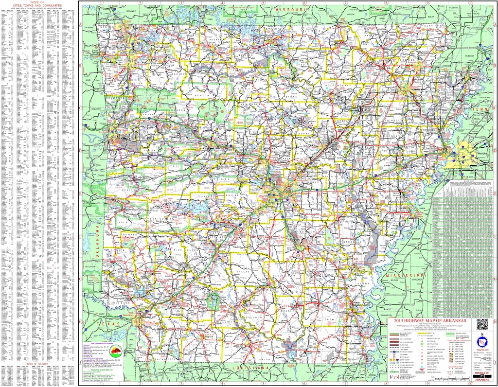 Large Detailed Map Of Arkansas With Cities And Towns - Arkansas Road Map Printable