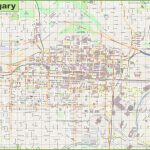 Large Detailed Map Of Calgary   Printable Map Of Calgary