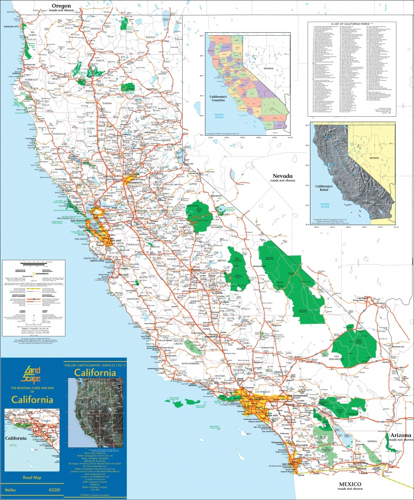 Large Detailed Map Of California With Cities And Towns - Map Of California Cities