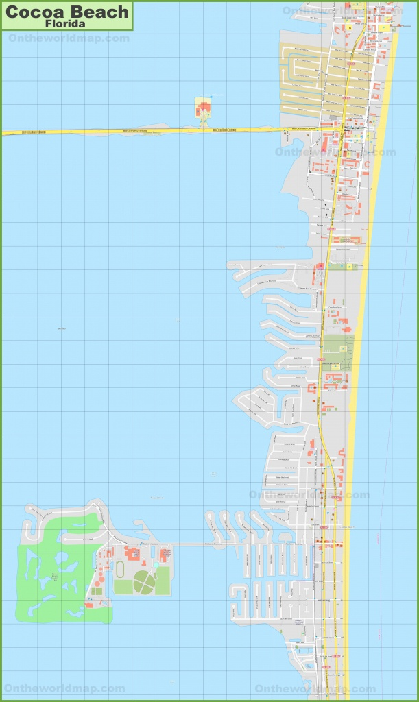 Large Detailed Map Of Cocoa Beach - Coco Beach Florida Map