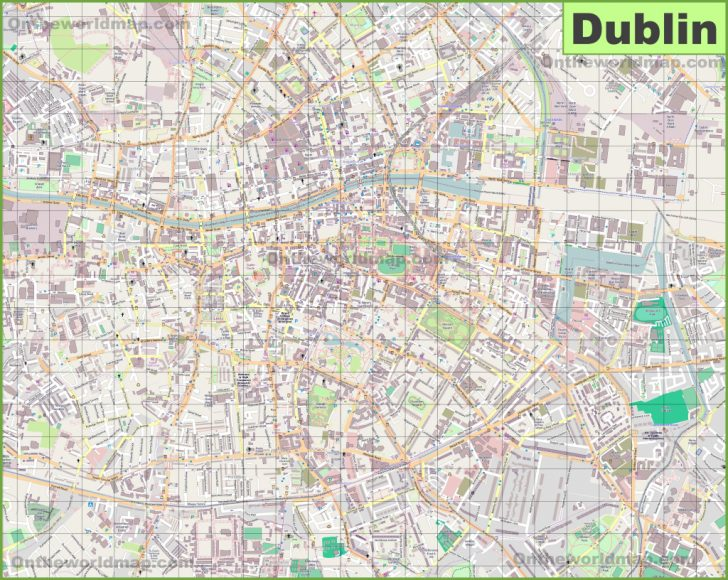 Dublin City Map Printable
