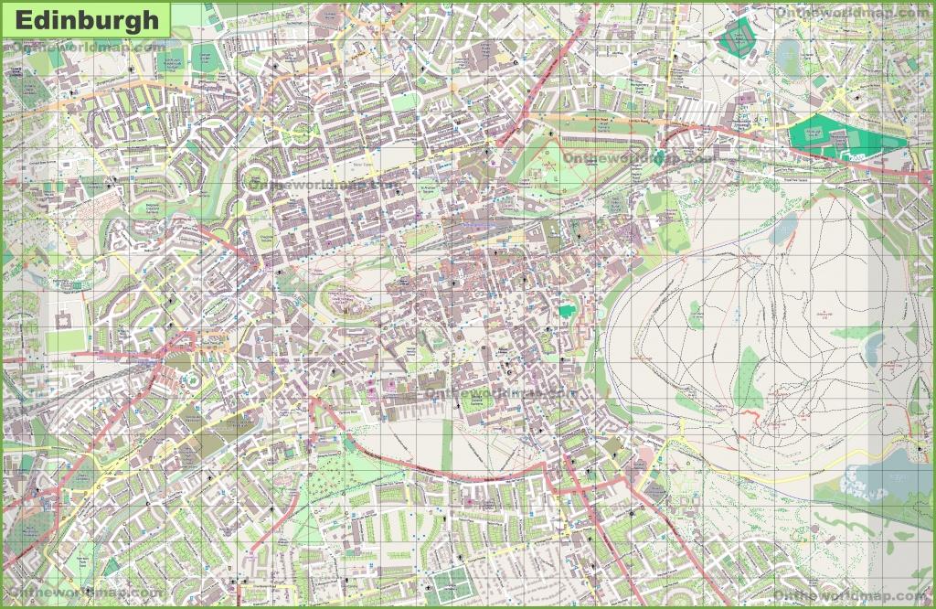 Large Detailed Map Of Edinburgh - Edinburgh City Map Printable