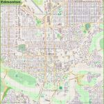 Large Detailed Map Of Edmonton   Printable Map Of Edmonton