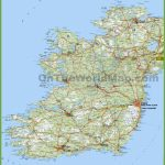 Large Detailed Map Of Ireland With Cities And Towns   Printable Map Of Ireland Counties And Towns
