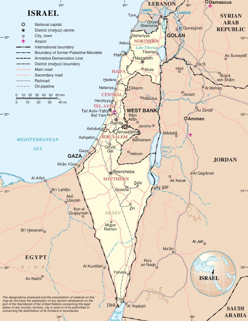 Large Detailed Map Of Israel - Printable Map Of Israel
