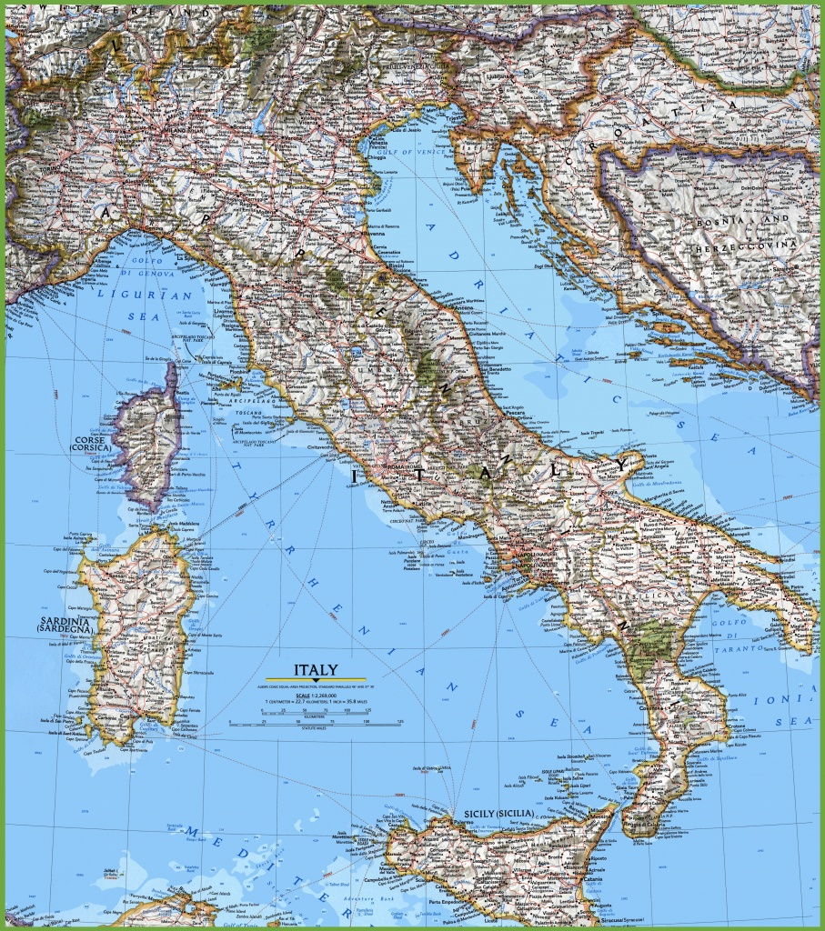 Large Detailed Map Of Italy With Cities And Towns - Printable Map Of Italy With Cities And Towns