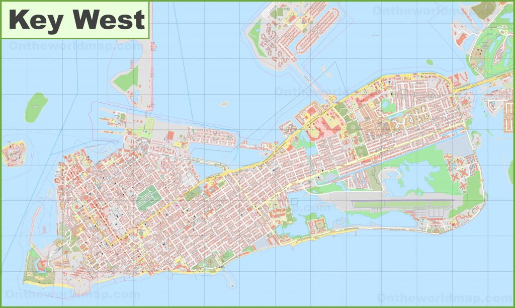 Large Detailed Map Of Key West - Printable Street Map Of Key West Fl