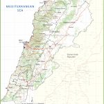 Large Detailed Map Of Lebanon   Printable Map Of Lebanon