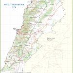 Large Detailed Map Of Lebanon   Printable Map Of Lebanon