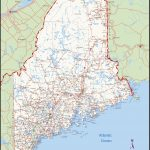 Large Detailed Map Of Maine With Cities And Towns   Printable Road Map Of Maine