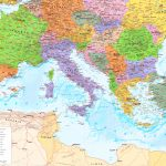 Large Detailed Map Of Mediterranean Sea With Cities   Printable Map Of The Mediterranean Sea Area