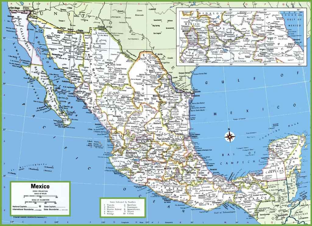 Large Detailed Map Of Mexico With Cities And Towns | Mexico | Map - Printable Map Of Mexico City