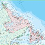 Large Detailed Map Of Newfoundland And Labrador With Cities And Towns   Printable Map Of Newfoundland