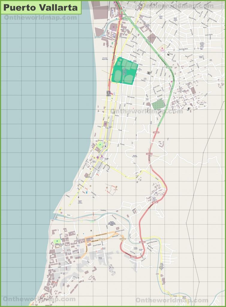 Large Detailed Map Of Puerto Vallarta - Puerto Vallarta Maps Printable