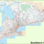 Large Detailed Map Of Southern Ontario   Printable Map Of Ontario