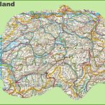 Large Detailed Map Of Switzerland With Cities And Towns   Printable Map Of Switzerland