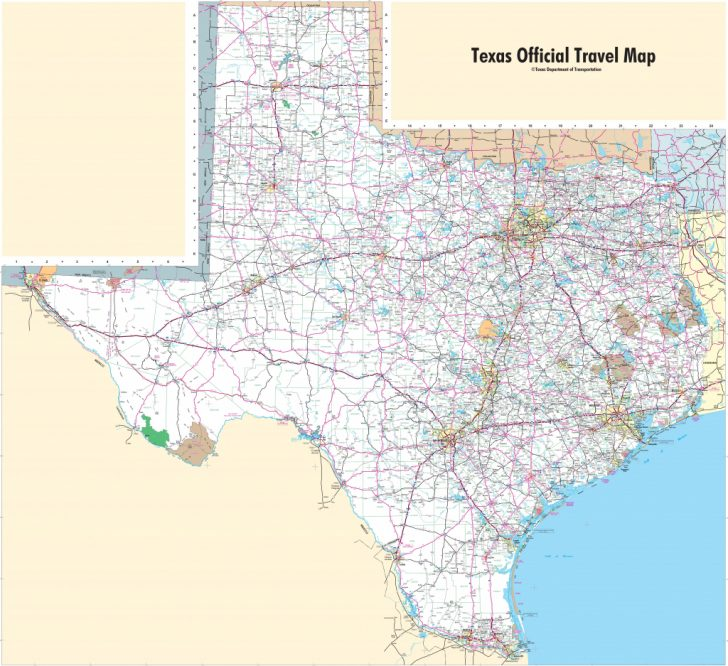 Detailed Road Map Of Texas