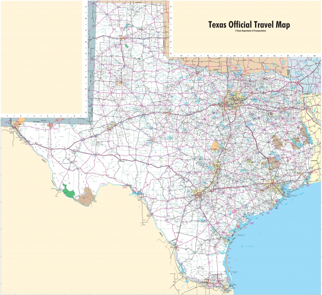 Large Detailed Map Of Texas With Cities And Towns - Texas Interstate Map