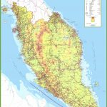 Large Detailed Map Of West Malaysia   Printable Map Of Malaysia