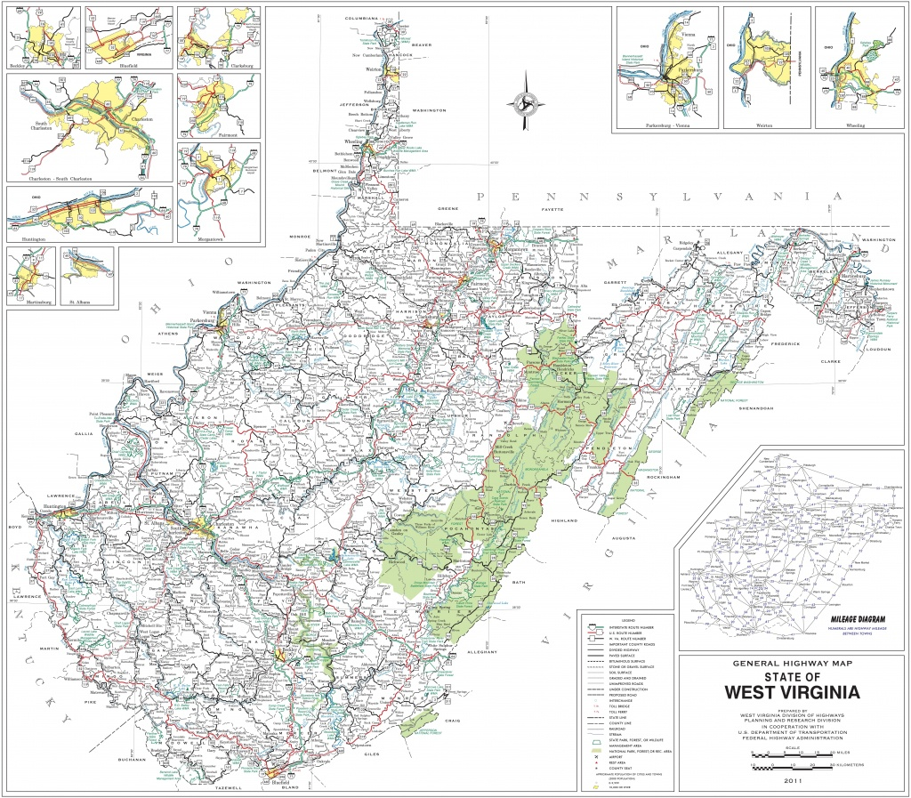 Large Detailed Map Of West Virginia With Cities And Towns - Printable Map Of West Virginia